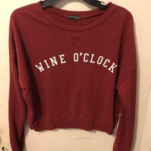 "Burgundy ""Wine o clock"" Sweater"